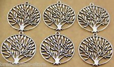 Wholesale 10 Tibetan silver color tree of life Pendant charm finding beads diy