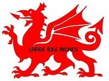 welsh dragon vinyl car sticker graphics decals rear window side wales laptop red