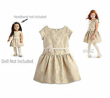 American Girl CL MY AG DUO BROCADE HOLIDAY DRESS Size 12 & MATCHING DOLL DRESS