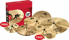 "SABIAN XS20 MODERN NATURAL  SUPER SET FREE10""SPLASH FREE 18"" CRASH"