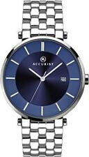 Accurist 7087 Mens Stainless Steel Blue Dial Date Dress Watch RRP £85