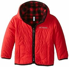 Boys 4T Red Plaid Columbia Double Trouble Reversible Fleece Jacket NWT $75