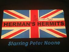 SIGNED HERMAN'S HERMITS PETER NOONE Black World Tour Band T Shirt (2XL)