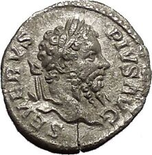 SEPTIMIUS SEVERUS Silver Ancient Roman Coin Salus Asclepius daughter i53153