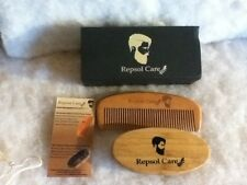 Mustache by Repsol Care Beard and Hair Comb and Brush Set