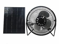 5W Solar Panel Runs 6'' Iron Mini Fan For Cooling Greenhouse Air Ventilation