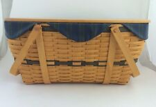 Longaberger Collector's Club Family Picnic Basket Combo w Lid