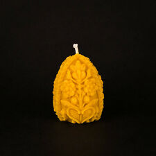 Pure Natural Beeswax (bees wax) Carved Easter Egg - 8 candles