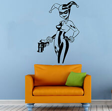 Harley Quinn Wall Vinyl Decal Cartoon Comics Hero Vinyl Sticker Decor (24b2j)