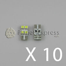 10 x Bombillas plana 4 LED SMD CANBUS T10 W5W Coche Posicion... Blanco Xenon