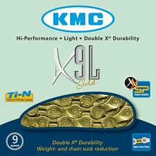 KMC X9L Gold 9 Speed Road or Mountain Bike Chain KMCX9LG