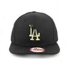 La dodgers New Era 9 FIFTY original coupe en métal doré logo snapback hat cap-bnwt