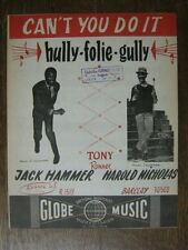 PARTITION MUSICALE BELGE JACK HAMMER HULLY GULLY FOLIES