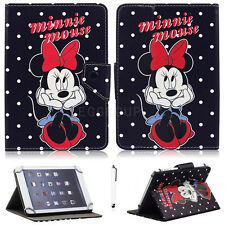 "Lovely Minnie Mouse Pattern PU Leather Stand Case Cover Skin For Linx 10"" Tablet"