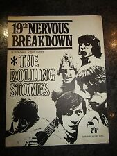 vintage ROLLING STONES 19TH NERVOUS BREAKDOWN very rare  original music sheet