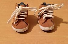Newborn Baby Boys F & F Brown Laced Shoes Boots Footwear Uk Cute Clothes MaMa