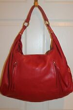 NEW! RADLEY LONDON Red Leather Large Shoulder Bag Hobo