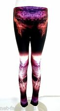 MCQ BY ALEXANDER McQUEEN LIGHTENING PRINT LEGGINGS SIZE L 100% AUTHENTIC BNWT
