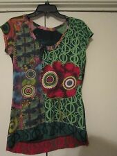 Desigual Womens Funky Top Blouse Size M