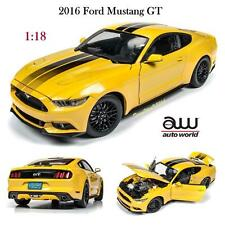 Auto World AW229 - 2016 Ford Mustang GT Tripple Yellow Diecast Car 1:18