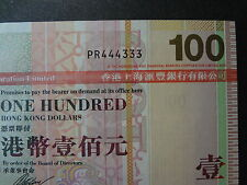 HONG KONG 2008 HSBC 100 DOLLARS, FANCY REPEATER NUMBER PR 444333, ULTRA GEM UNC