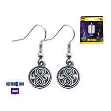 Doctor Who The Seal of Rassilon Dangle Earrings W/Gift Box USA Seller