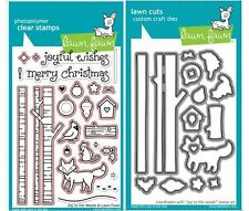 Lawn Fawn Photopolymer Clear Stamps-24 ct, +Dies JOY TO THE WOODS  ~LF706, LF707