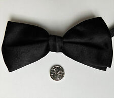 Cheap black bow tie satin fits collar sizes 10 to 18 inch NEW mens evening wear