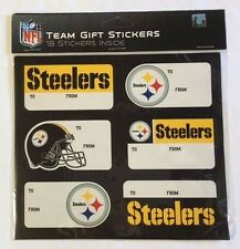 Pittsburgh Steelers Christmas Present Name Labels - Team Gift Stickers - To/From