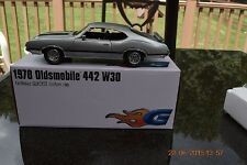 GUYCAST ACME 1:18  1970 OLDSMOBILE W30 SILVER/BLACK - ONLY 442 PIECES MADE