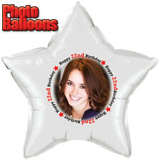 22ND BIRTHDAY PHOTO BALLOON Custom Printed Party Supplies