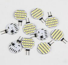 10x Super Bright 4.8w White G4 24SMD Car Home Marine Cabinet LED Light Bulb 12V