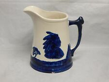 Antique Blue and White Sleepy Eye Pottery Pitcher