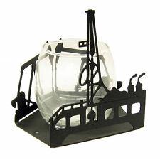 Oil rig black metal votive candle holder