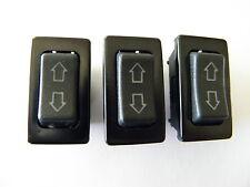 THREE UNIVERSAL POWER DOOR LOCK/POWER WINDOW ILLUMINATED ROCKER SWITCHES 5 PIN