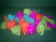 "Mice Cat Toy - 25  Fur Mice 2"" Long - Multicolored REAL RABBITS FUR"