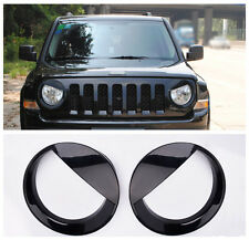 Angry Bird style Front Head Light Lamp Cover Trim for Jeep Patriot 2011-2015