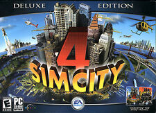 SimCity 4 Deluxe Edition (with 'Rush Hour') -- Sim City Windows PC Computer Game