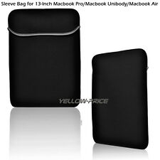 """Soft Netbook Laptop Sleeve Case Bag Pouch Cover For 13"""" 13.3"""" Macbook Pro / Air"""
