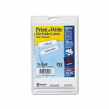 Avery 5202 Print or Write File Folder Labels White - 252 Labels New