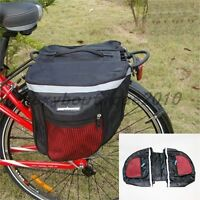 Bike Bicycle Cycling Accessories Rear Seat Double Panniers Bag Trunk Rack Pack