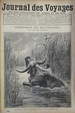 JOURNAL DES VOYAGES N° 829 de 1893  ILES SANDWICH KILAUEA TAUREAU TUE AU COUTEAU