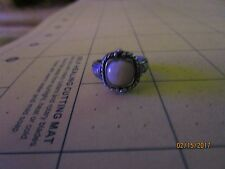 Vintage Signed {MO} Braid Design.925 Sterling Silver Size 5 Ring