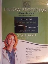BED BUG PILLOW PROTECTOR--STANDARD SIZE--35% COTTON-MACHINE WASH & DRY W/ ZIPPER