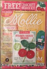 Mollie Makes Summer Cherry Brooch Kit Luggage Tags #43 2014 FREE SHIPPING!