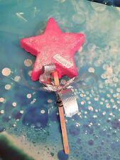 Lush Christmas 2016 MAGIC WAND REUSABLE BUBBLE BAR snow fairy scent candy !