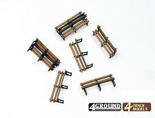 4TrackModels Iron Framed Benches Kit TE116 OO Scale - suit HO Also