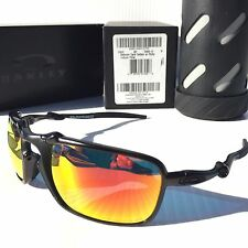 NEW* Oakley BADMAN DARK CARBON Ruby Iridium POLARIZED Lens Sunglass 6020-03 $400