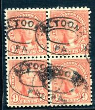 #590 - F to VF Centering w/ 4 S.O.N. Altoona, PA Double Oval Cancels