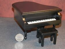 Dollhouse Miniature Baby Grand Piano TOP SCRATCHED  1:12  one inch scale F42